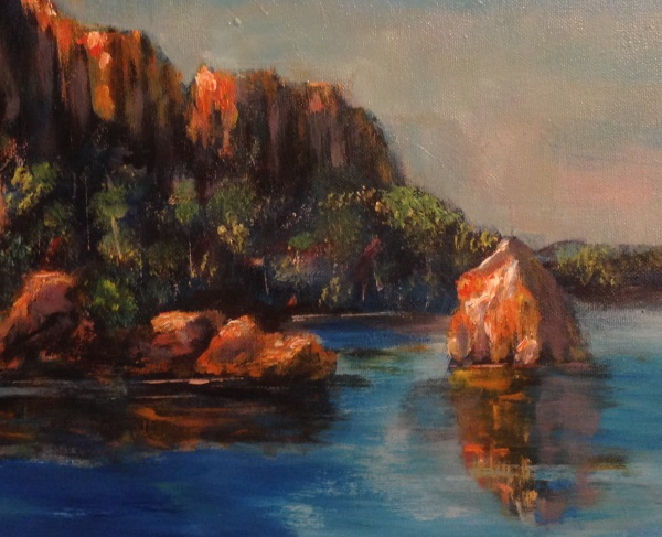 Ord River in the Kimberleys, far north-west Australia, painted by Peter Inglis.