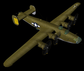 Consolidated B-24 Liberator | Flyable in these simulations