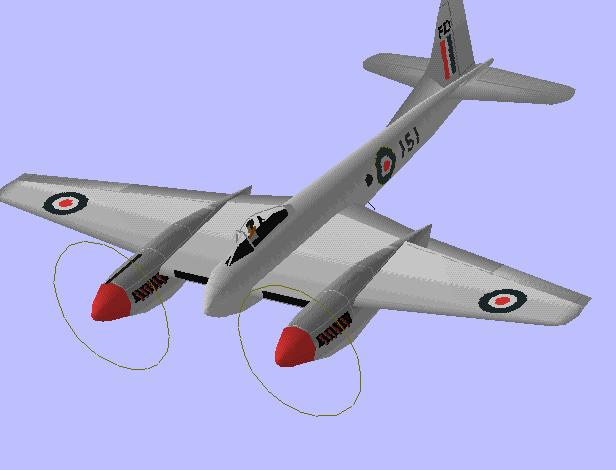DeHavilland DH.103 Hornet | Flyable in these simulations