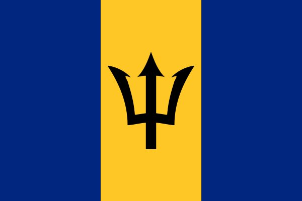 Roundel of Barbados Air Force.