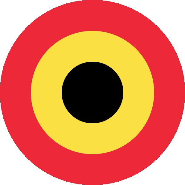 Roundel of Belgium Air Force.