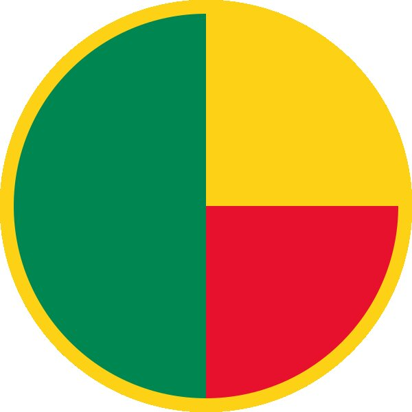 Roundel of Benin Air Force.