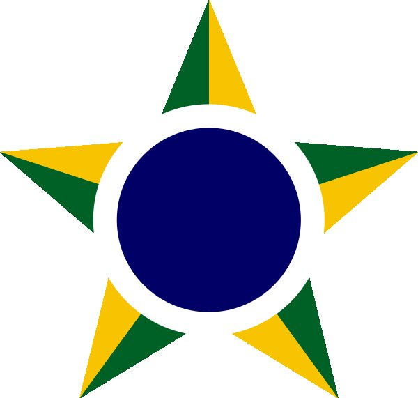 Roundel of Brazil Air Force.