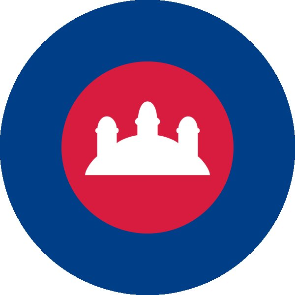 Roundel of Cambodia Air Force.