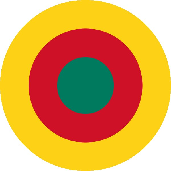 Roundel of Cameroon Air Force.