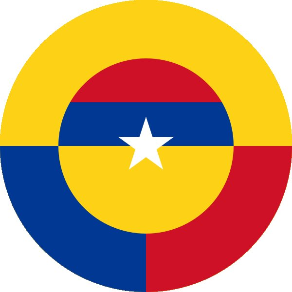 Roundel of Colombia Air Force.
