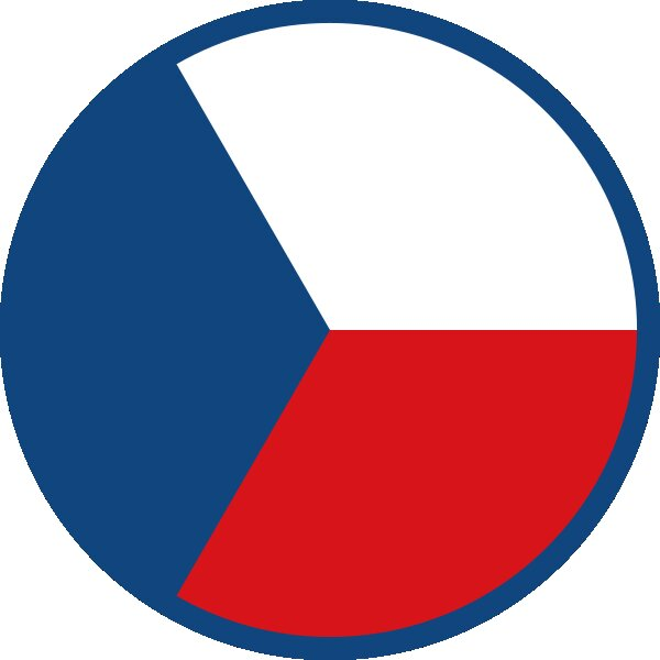 Roundel of Czech Republic Air Force.