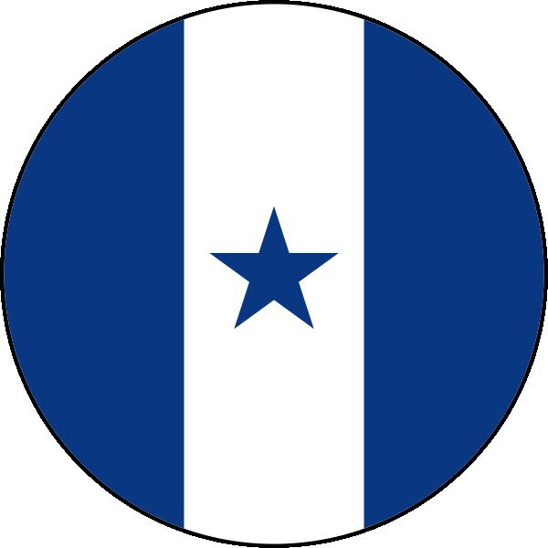 Roundel of Honduras Air Force.