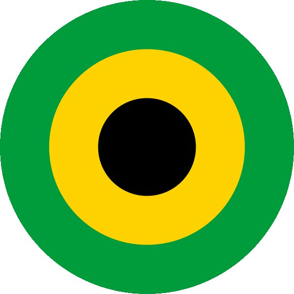 Roundel of Jamaica Air Force.