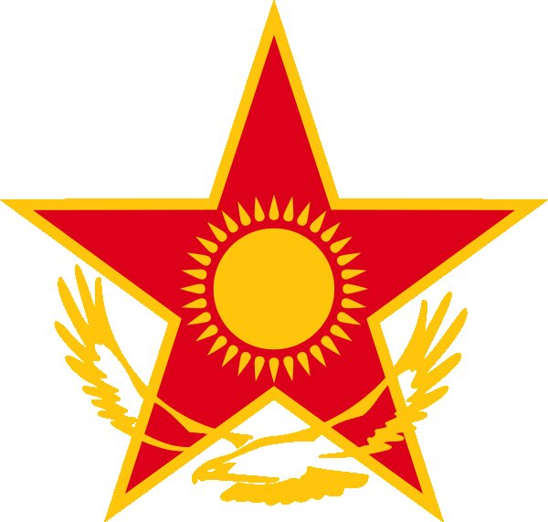 Roundel of Kazakhstan Air Force.