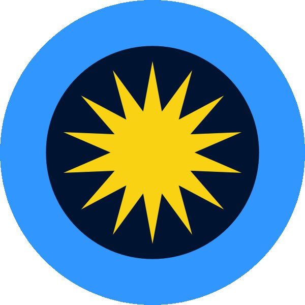 Roundel of Malaysia Air Force.