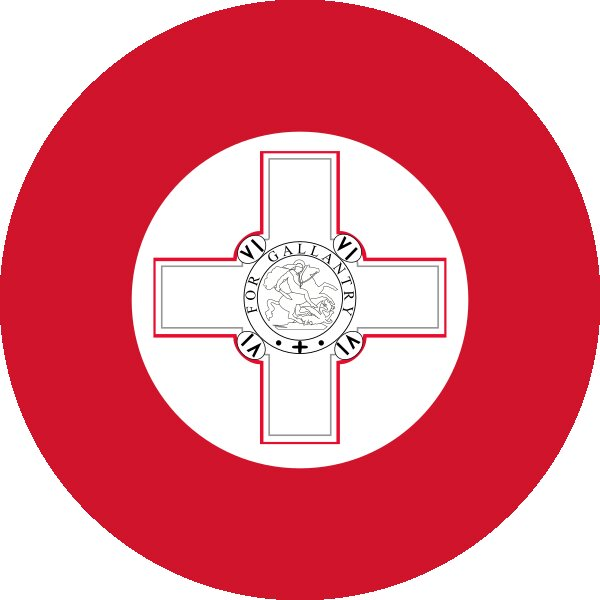 Roundel of Malta Air Force.
