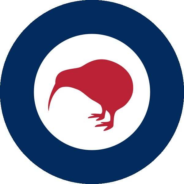 Roundel of New Zealand Air Force.