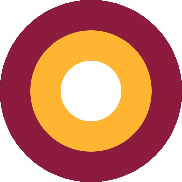 Roundel of Qatar Air Force.