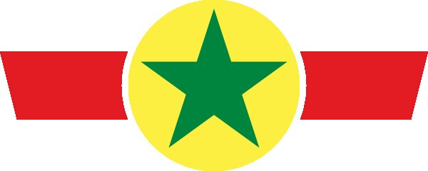 Roundel of Senegal Air Force.