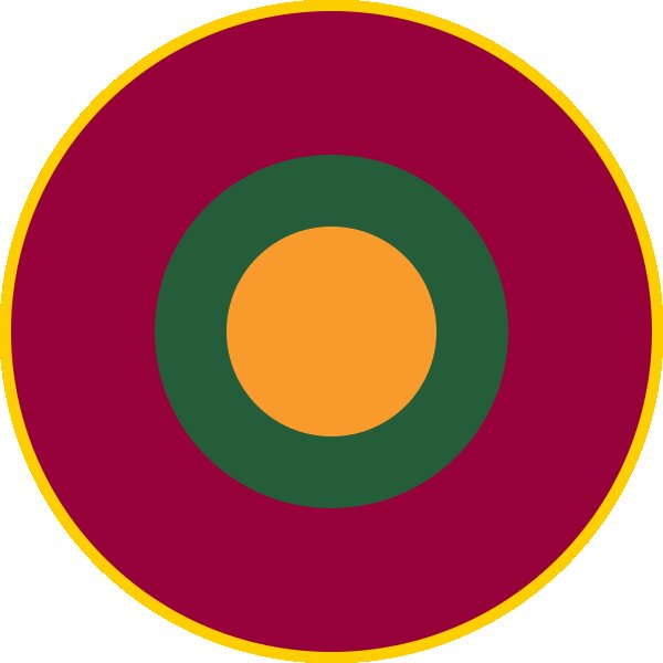 Roundel of Sri Lanka Air Force.