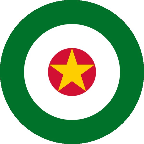 Roundel of Suriname Air Force.