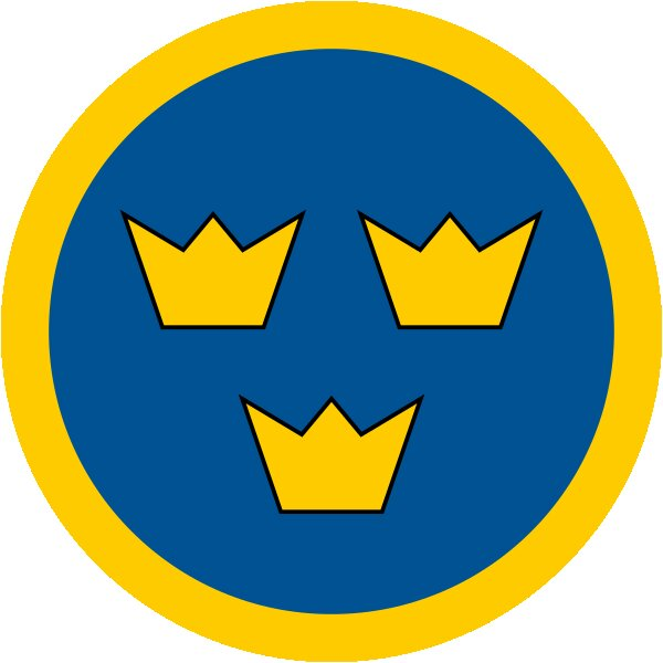 Roundel of Sweden Air Force.