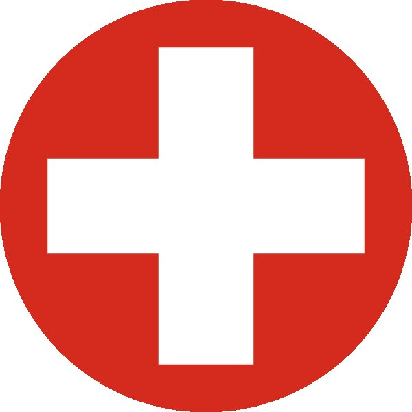 Roundel of Switzerland Air Force.