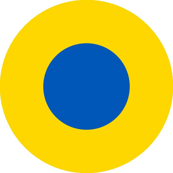 Roundel of Ukraine Air Force.