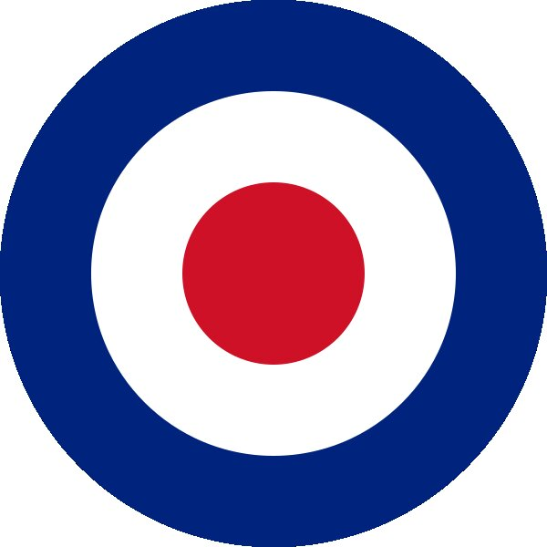 Roundel of United Kingdom Air Force.
