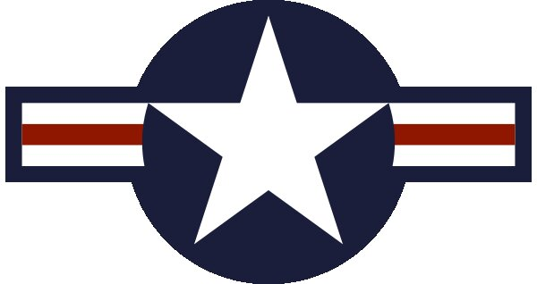 Roundel of USA Air Force.