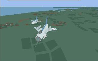 MiG-21 Fishbed in Jet Pilot for the Commodore Amiga, 1996.