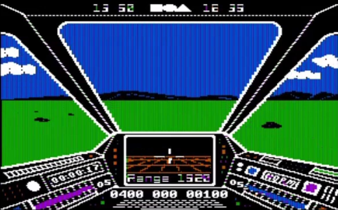 Skyfox, a flight game from 1985.