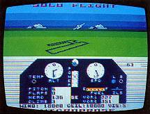 Solo Flight was released in 1984 on the Atari 800 and Commodore Amiga.