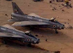 Two Lightnings at Ali Al Salem airport in Kuwait during Desert Storm.